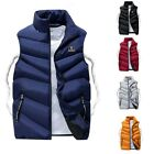 Men Warm Vest Fashion Sleeveless Jacket Teenager Cotton Padded Waistcoat Outwear