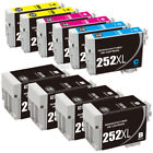 Reman 252XL Ink Cartridges for E p s o n WF-3620 WF-3640 WF-7110 WF-7610 WF-7620