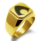 Stainless Steel Aquaman Symbol Mens Square Biker Style Signet Ring $15.0 USD on eBay