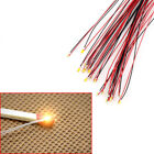 10  0603/0402 Pre-soldered Micro Litz Wired Leads White Smd Led 200mm Long