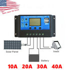 10/20/30/40A Solar Panel Battery Regulator Charge Controller Dual USB 12V 24V for sale  Shipping to South Africa