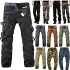 Men Army Military Camouflage Cargo Pants Casual Outdoor Combat Work Trousers
