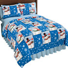 Holiday Winter Snowman Fleece Coverlet, by Collections Etc image