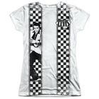 Elvis Presley CHECKERED BOWLING SHIRT 1-Sided Big Print Poly Juniors T-Shirt