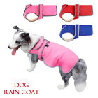 Waterproof Pet Dog Rain Coat Jacket Fleece Lined Vest Clothes M L XL