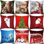 Christmas Pillow Case Santa Velvet Sofa Car Throw Cushion Cover Home Decor 18''  image