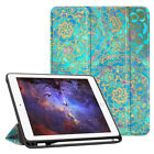 For iPad 6th Gen 9.7 inch 2018 Tablet Case Slim Cover with Apple Pencil Holder