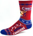 Montreal Canadiens Hockey NHL Ugly Reindeer Christmas Socks Crew Red $9.99 USD on eBay
