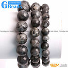 Handmade Natural Black Larvikite Beaded Energy Healing Bracelet Free Shipping 7""
