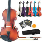 Mendini Student Violin Package in 7 Finishes  8 Sizes Case Bow Extra Strings