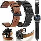 Genuine Leather Watch Band Strap Bracelet For Galaxy Watch 46 42mm S3 Frontier image