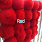 10X Real Rabbit Fur Pompom Ball Puffy Pendant for Hat Bags Shoes Key Chain Cute