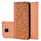 Bling Folio Stand Leather Flip Case Cover for Samsung Galaxy S9 A6 A7 J4 J6 2018