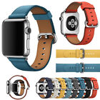 Replacement Genuine Leather iWatch Strap Wrist Band For Apple Watch 40 44mm image