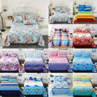 Soft Flat Bed Sheet Set w/Pillowcase Cover Comfort Floral Bedding Sheets 4 Size image