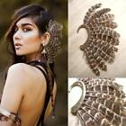 Nice Unique 1pc(left)unisex Big Feather Ear Cuff Non Piercing Gold Earring