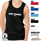 HARD TRAINING Men's Muscle Tank T-Shirt Workout Gym BodyBuilding Fitness D541 image