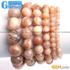 Handmade Natural Sunstone Beaded Bracelet Jewelry Gifts Free Shipping 7""