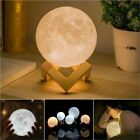 3D Moon Lamp Moonlight USB LED Night Lunar Light Touch Color Changing 12cm /15cm