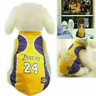 Pet Dog T shirt Basketball Jersey Puppy Party Custome Vest Fan Sport Clothing