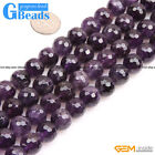 """Natural Purple Amethyst Gemstone Faceted Round Beads Free Shipping Strand 15"""""""