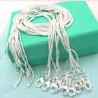 10pcs Wholesale Hot Jewelry Solid Silver Snake Chain Necklace For Pendant Gift