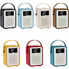 Retro Mini by VQ  Radio Bluetooth Speaker AM/FM/HD Battery with PU Leather Case