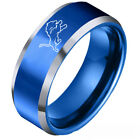 Detroit Lions Football Team Stainless Steel Men's Ring Band Gifts Size 6-13