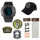 5.11 Kits Military Tactical Field Ops Watch, Style 59245, Hat Patches Decals Set image