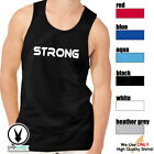 STRONG Men's Muscle Tank T-Shirt Workout Gym BodyBuilding MMA C78 image