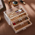 Transparent Jewelry Display Necklace Make-up Storage Boxes Case Organizer
