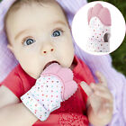 US Silicone Baby Mitt Teething Mitten Teething Glove Candy Wrapper Sound Teether