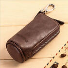Vintage Unisex Genuine Leather Car Key Case Zipper Wallet Card Holder Key Bag