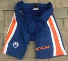 CCM PP90 Pro Stock Hockey Pants Shell Blue Edmonton Oilers All Sizes 9194 $68.25 USD on eBay