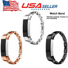 Premium Metal Stainless Steel Watch Band Bracelet W/Crystal For Fitbit Alta HR image