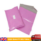 Premium Strong PINK Plastic Mailing Postal Poly Pack Postage Bags UK ALL SIZES