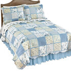 Willow Blue And Yellow Floral Patchwork Quilt, by Collections Etc image