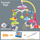 Early Learning Baby Crib Mobile Musical Bed Bell With Animal Rattles Projection