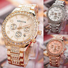2019 New Stainless Steel Geneva Luxury Women Crystal Quartz Analog Wrist Watch image