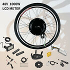 26&quot; Front/Rear Wheel 36/48V Electric Bicycle E-bike Conversion Kit Cycling Motor <br/> 500W/1000W/LCD✔Aluminum Alloy✔Brushless Gearless MOTOR✔