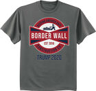 Build The Wall Trump 2020 MAGA T-shirt Make America Great Again Border Security