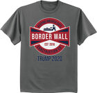 Build The Wall Trump 2020 MAGA T-shirt Make America Great Again Border Security image