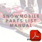 Yamaha EC340 Excel III Series Parts List or Owner's Service Snowmobile Manual