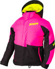 FXR Youth Electric Pink/Black/Hi-Vis Fresh Insulated Snowmobile Jacket Snocross