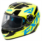 FXR Youth Hi-Vis/Blue/Black Nitro Core Snowmobile Helmet Snocross DOT ECE 2018