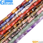 """9x20mm Assorted Stones Column Twist Beads For Jewelry Making Free Shipping 15"""""""