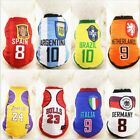 Dog Football Sports Clothes For Small Medium Large Dogs  Dog Vest Summer Cotton