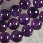AAA+++ 6mm-8mm-10mm Natural Russican Amethyst Gemstones Round Loose Beads 15''