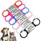 Personalized Slide-On Dog ID Tags Stainless Steel No Noise Cat Collar Tags S L