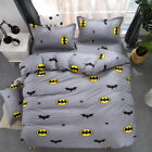Batman 2/3pcs Duvet Cover Set Twin Queen Size Bedding Set Pillowcase Kids Gift image